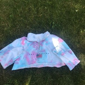 brandy la quarter zip! cropped and dyed!